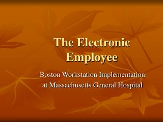 The Electronic Employee