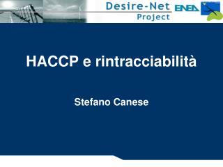HACCP e rintracciabilità