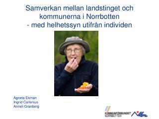 Samverkan mellan landstinget och kommunerna i Norrbotten  - med helhetssyn utifr n individen