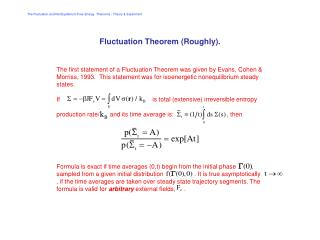 The Fluctuation  Dissipation Theorems  Lecture 2