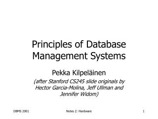 Principles of Database Management Systems