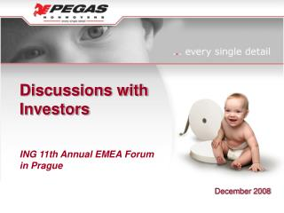 Discussions with  Investors ING 11th Annual EMEA Forum in Prague