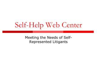 Self-Help Web Center
