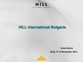 HILL International Bulgaria