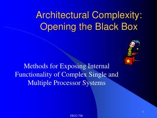 Architectural Complexity: Opening the Black Box