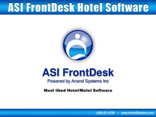 ASI FrontDesk Powered by Anand Systems Inc