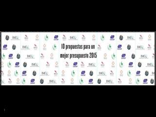 10 Propuestas para un Mejor Presupuesto 2015