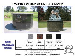Round Columbarium – 64 niche
