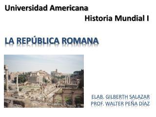 Universidad Americana  Historia Mundial I