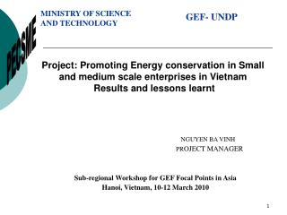 Project: Promoting Energy conservation in Small and medium scale enterprises in Vietnam