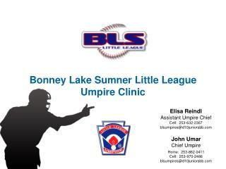 Bonney Lake Sumner Little League Umpire Clinic