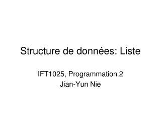 Structure de données: Liste