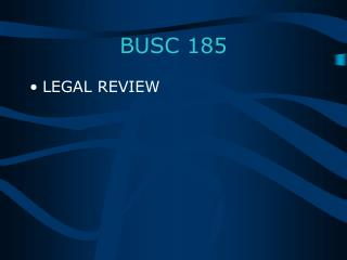 BUSC 185