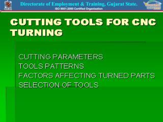 CNC CUTTING TOOL MATERIALS