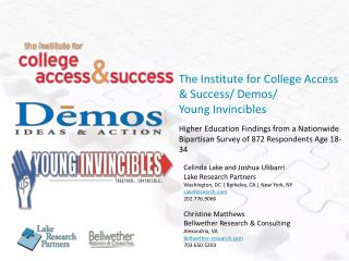 The Institute for College Access & Success/ Demos/ Young Invincibles
