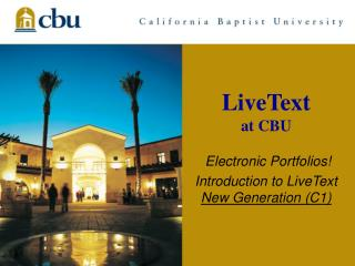 LiveText at CBU