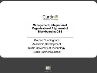 Management, Integration & Organisational Alignment of Blackboard at CBS