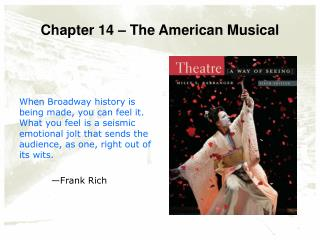 Chapter 14 – The American Musical