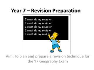 Year  7 �  Revision Preparation