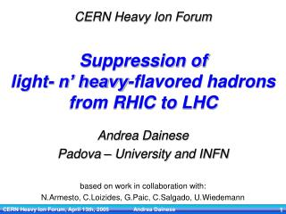 Suppression of  light- n' heavy-flavored hadrons from RHIC to LHC