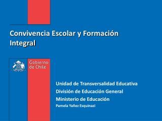 Convivencia Escolar y Formación Integral