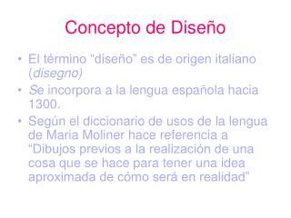 Concepto de Diseño