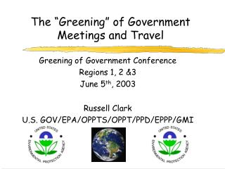 The �Greening� of Government Meetings and Travel