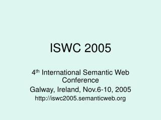ISWC  2005