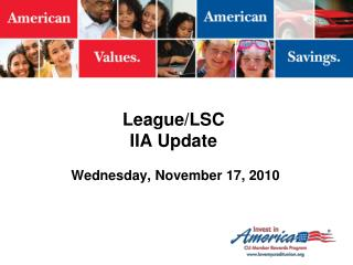 League/LSC IIA Update