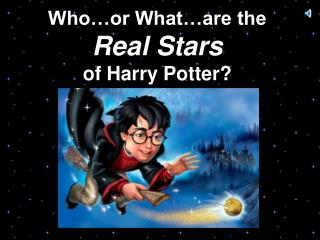 Who…or What…are the Real Stars of Harry Potter?
