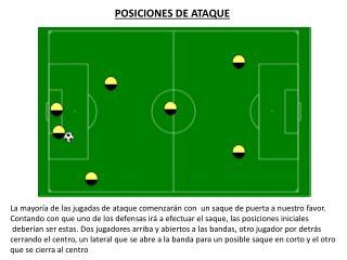 POSICIONES DE ATAQUE
