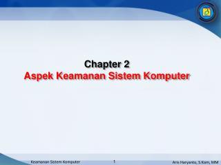Chapter  2 Aspek Keamanan  Sistem Komputer