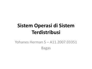 Sistem Operasi di Sistem Terdistribusi
