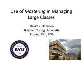 Use of  Mastering  in Managing Large Classes