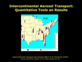 Intercontinental Aerosol Transport: Quantitative Tools an Results
