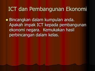 ICT dan Pembangunan Ekonomi