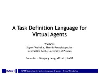 A Task Definition Language for Virtual Agents
