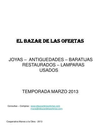 EL BAZAR DE LAS OFERTAS
