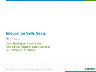 Integration Sells Seats