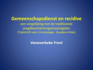 Vanoverbeke Froni