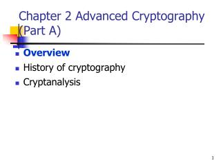 Chapter 2 Advanced Cryptography (Part A)
