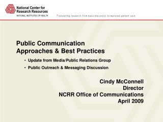 Public Communication  Approaches & Best Practices
