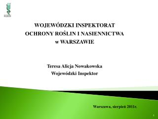 Warszawa, sierpie? 2011r.