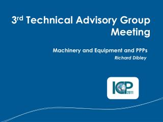 Machinery and Equipment and PPPs