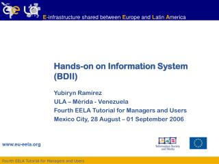 Hands-on on Information System (BDII)