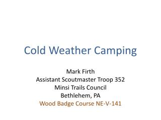 Cold Weather Camping