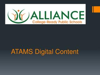 ATAMS Digital Content