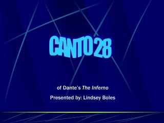 CANTO 28
