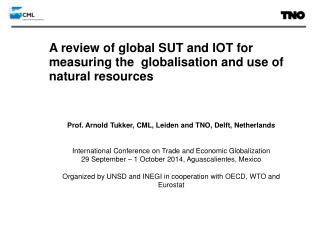 A review of global SUT and IOT for measuring  the  globalisation  and  use  of natural resources