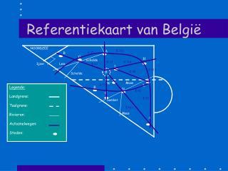 Referentiekaart van Belgi